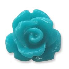 10mm Tropical Blue Small Resin Rose Buds